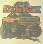 dodge truck 1970's vintage t-shirt iron-on