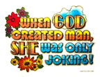 when god created man she was only joking t shirt heat transfer iron on