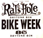 daytona bike week vintage t-shirt iron-on 1986