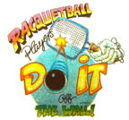 racquetball players do it off the wall vintage t-shirt iron-on