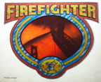 Firefighter Fireman 1970's rare Vintage T-Shirt Transfer Iron-On