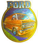 ford van vintage t-shirt iron-on transfer