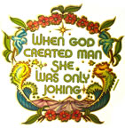 when god created man she was only joking vintage t-shirt iron-on heat transfer